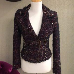 Zara Tweed Moto Jacket